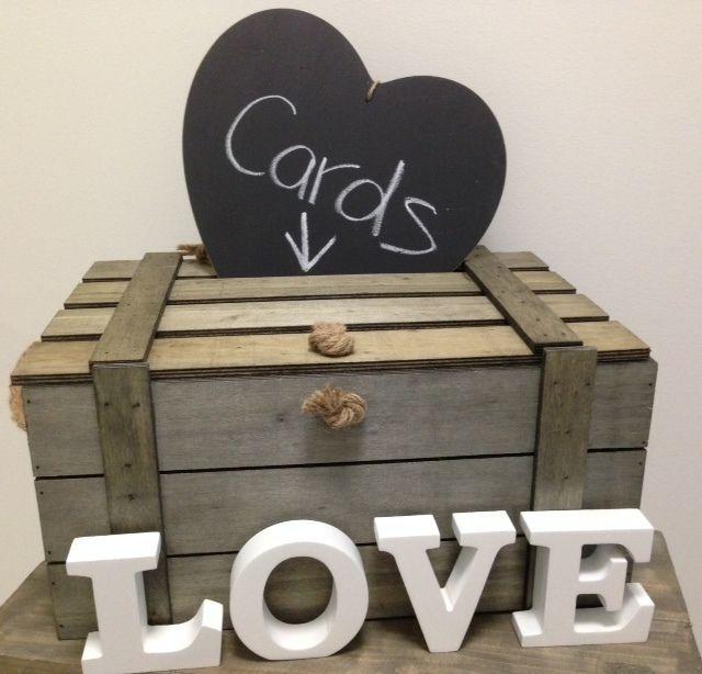 New Large Wooden Wood Shabby Beach Vintage Wedding Wishing Well Box Chest Ebay