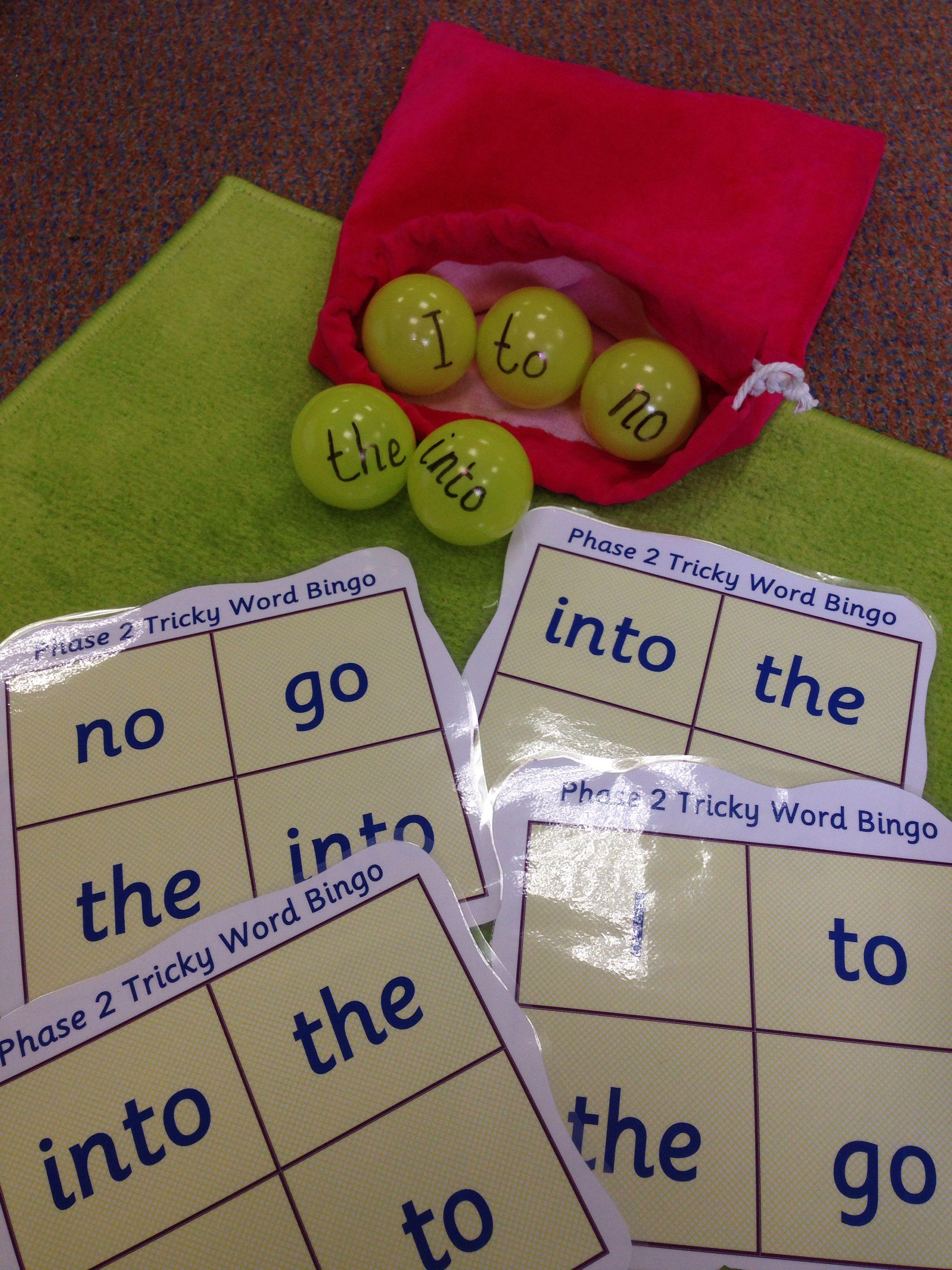 Phase 2 Tricky Word Bingo Game