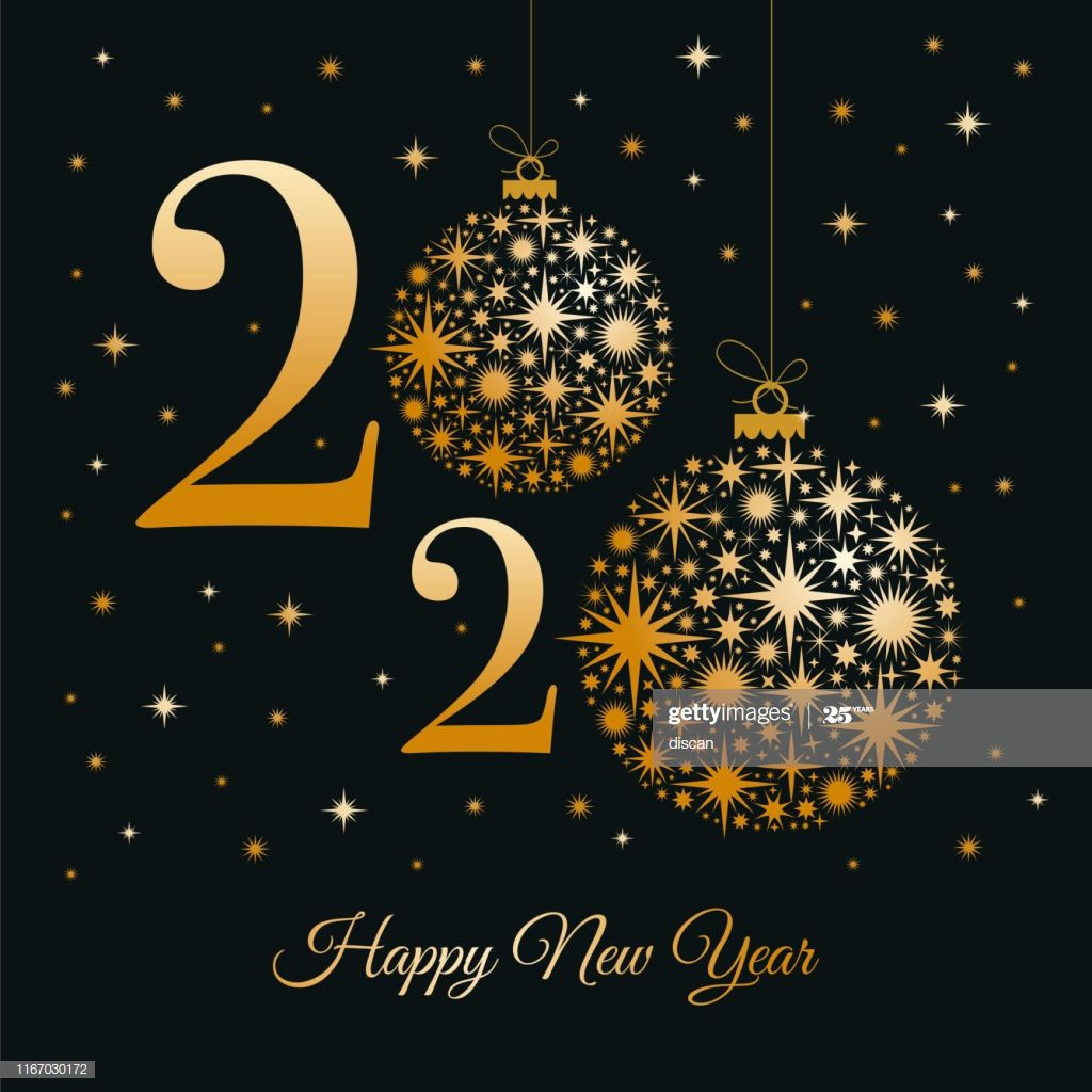 2020 Happy New Year Greeting Card Winter Holiday Design Template Happy New Year Pictures Happy New Year Greetings Happy New Year Photo