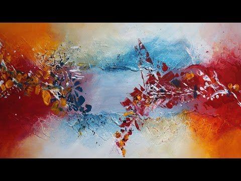 Acrylmalerei Spachteltechnik Abstrakt Youtube