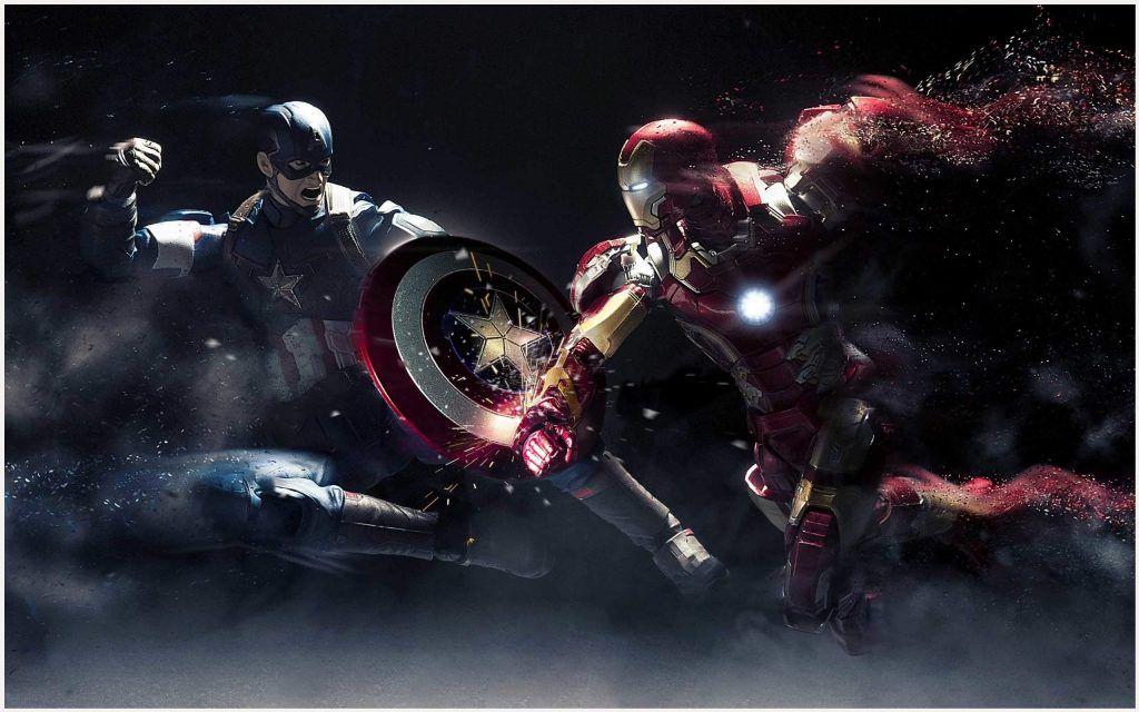 Captain America Vs Iron Man Civil War Wallpaper Captain America Vs