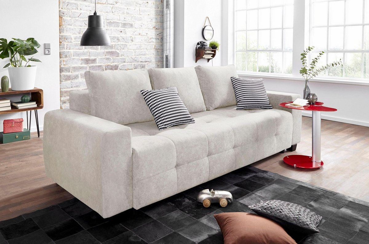 Schlafsofa Inklusive Bettkasten Und Federkern Couch Sofa Home Decor