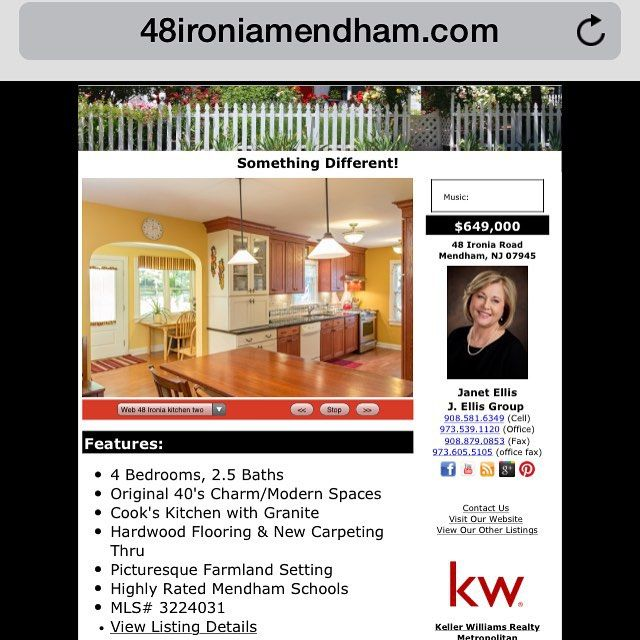 sale Home for sale in #Mendham #NJ  #newjerseyrealestate #newjersey #realestate #home...