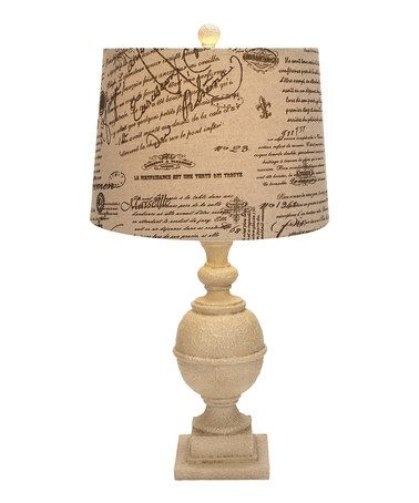 Take a look at this Antique White Lettres Table Lamp by UMA Enterprises on #zulily today!