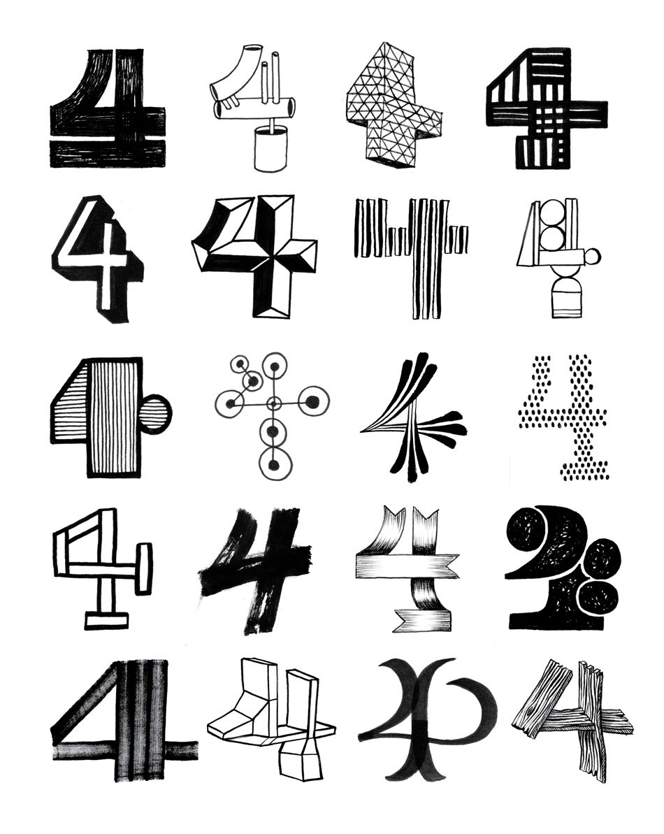Leftovers Numbers Typography Typography Hand Drawn Typography