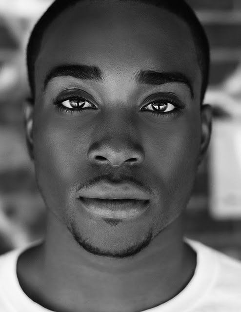 Young african man with face painting, portrait black and white - Buscar con Google