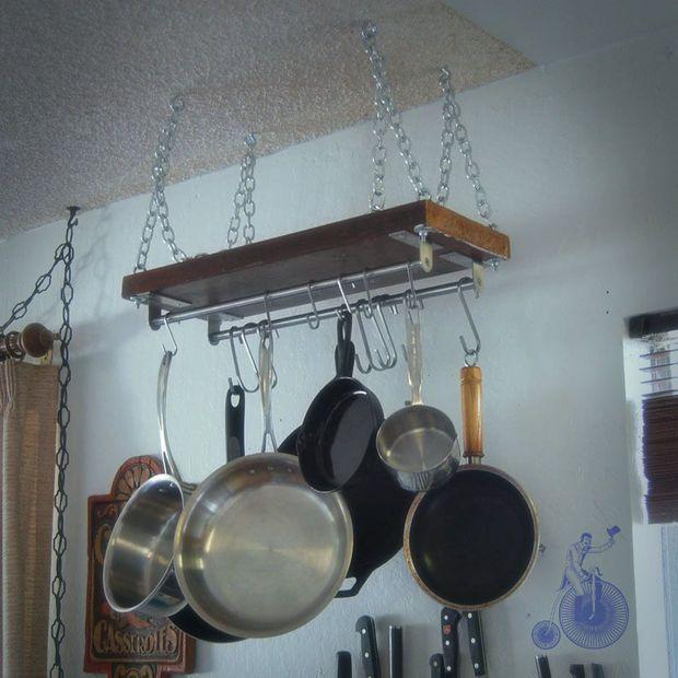 Easy Pot Rack Kitchen Tips and Basics Pinterest Pot rack, DIY