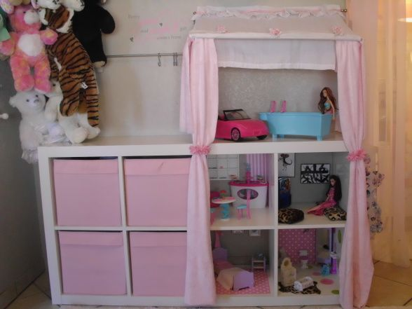 ikea shelf barbie house diy. Black Bedroom Furniture Sets. Home Design Ideas
