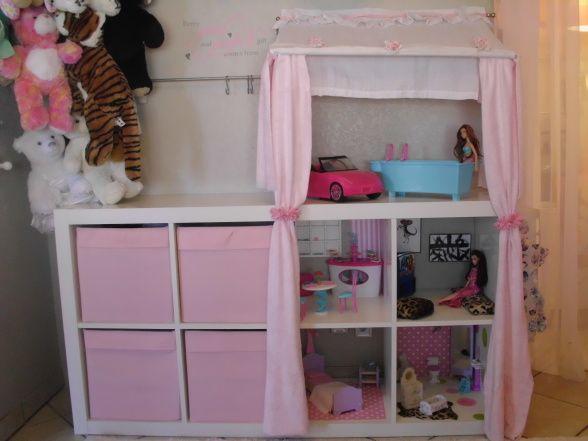 ikea shelf barbie house diy. Black Bedroom Furniture Sets. Home Design Ideas