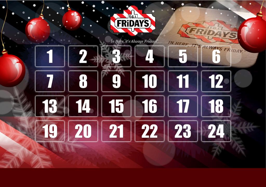 T.G.I. Friday's Julekalender Svar på enkle spørsmål og vinn gavekort!!