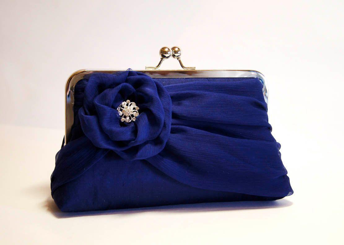 5d6499a12ddc2 Silk Chiffon Clutch with Brooch, Wedding clutch, Wedding bag, Bridal ...