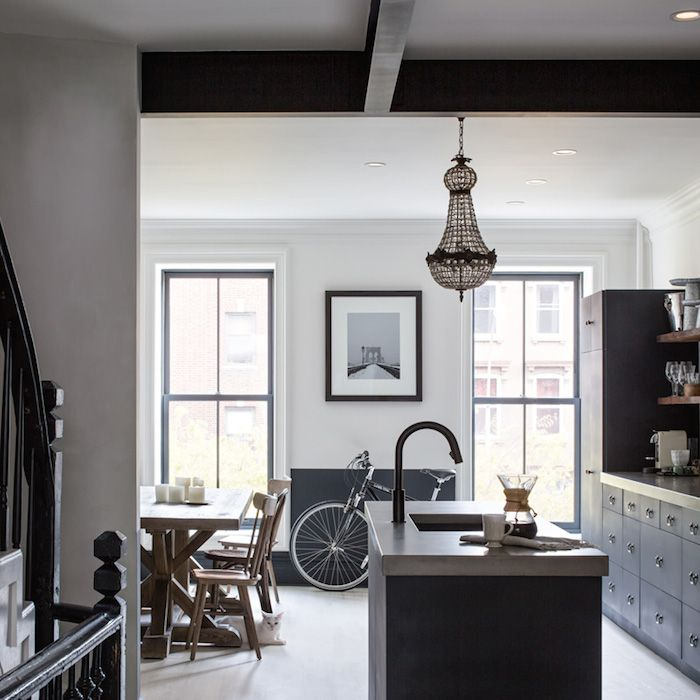 kitchen design brooklyn ny. Steely Blue Decor  New York BrownstoneBrooklyn Apartment Kitchen Southern style Just love and york