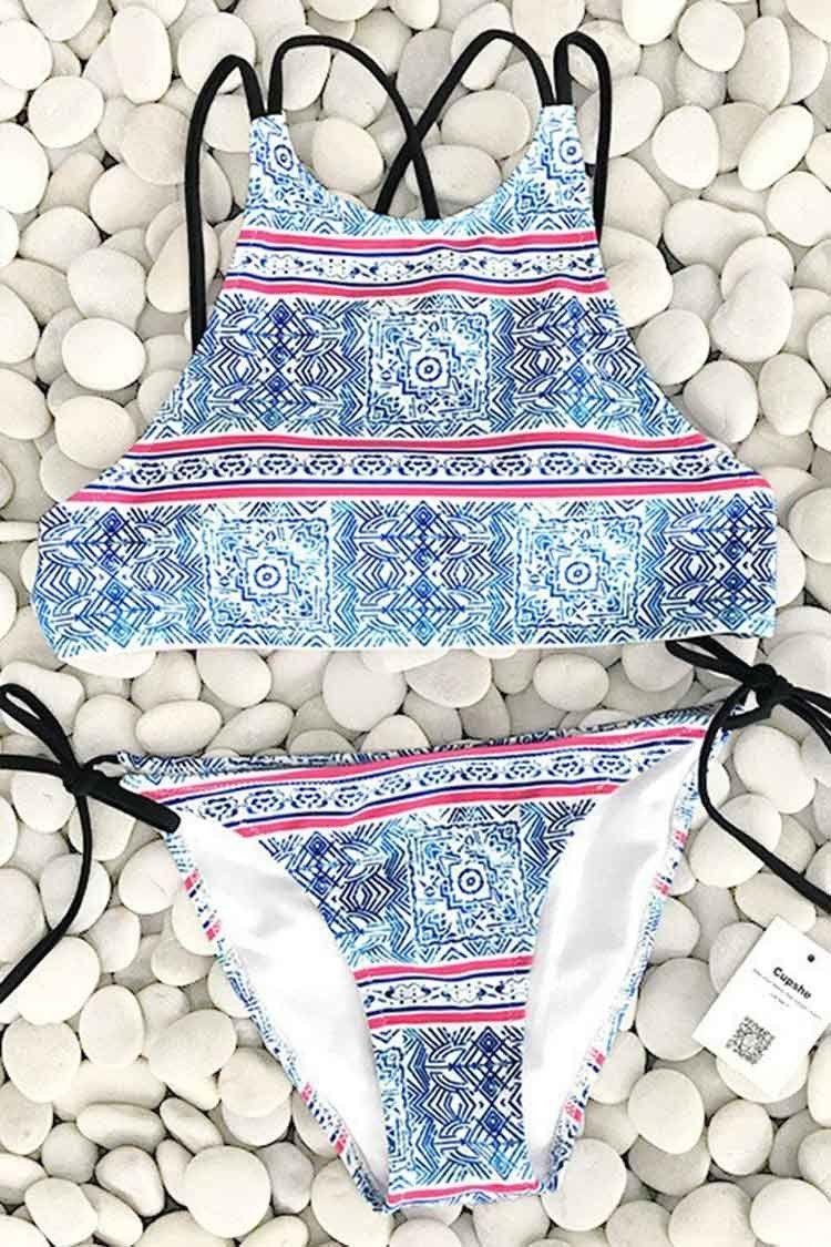 Cupshe Password To Maze Bikini Set