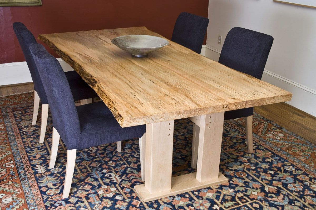 Live Edge Dining Table Inspiration For Your Dining Room  Live Interesting Maple Dining Room Table Design Decoration