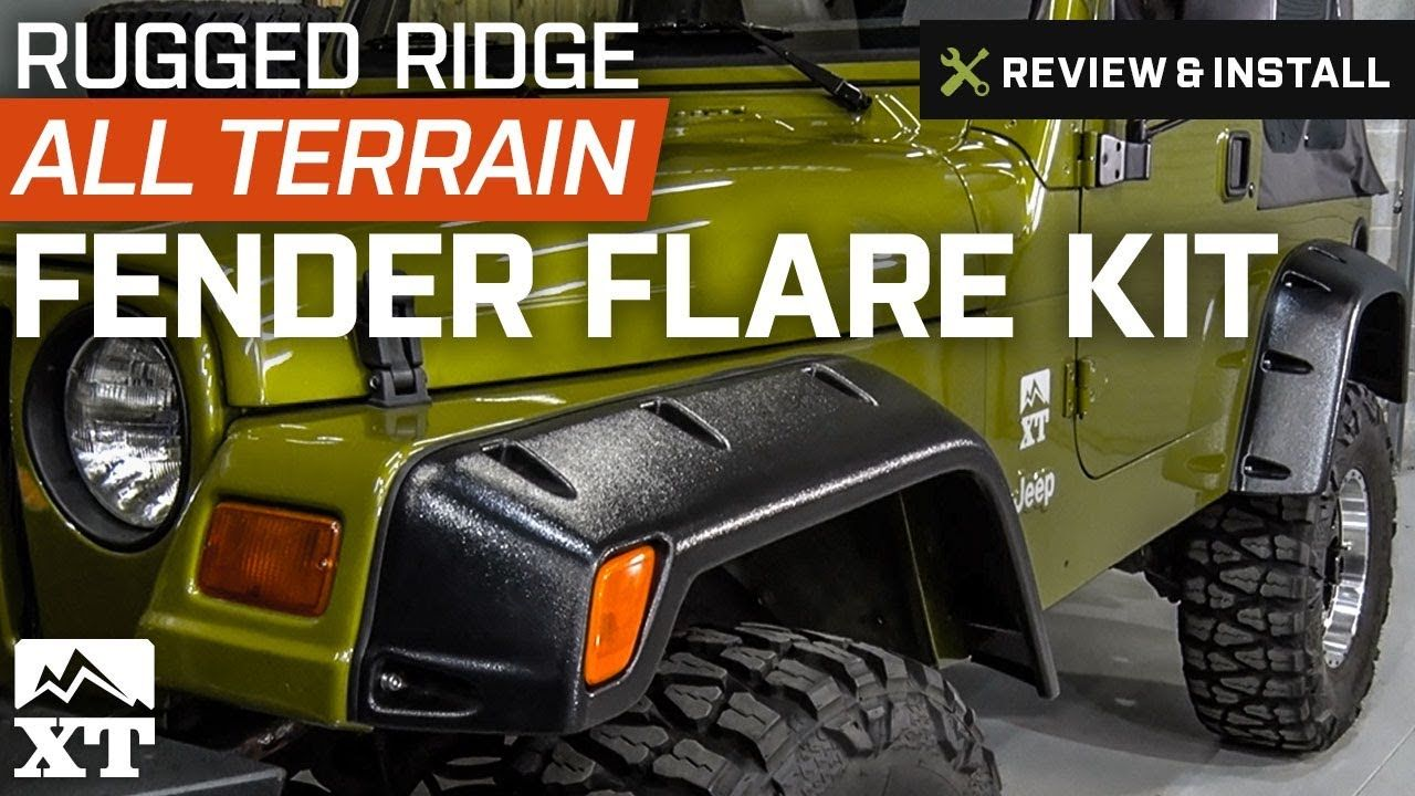 Jeep Wrangler 1997 2006 TJ Rugged Ridge 6 All Terrain Fender Flare Kit