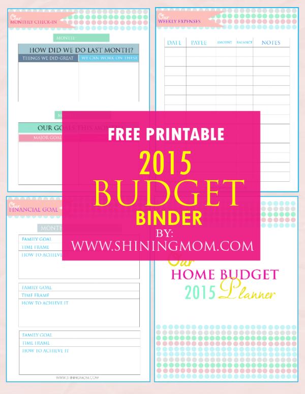 printable family budget binder paperwork home organization