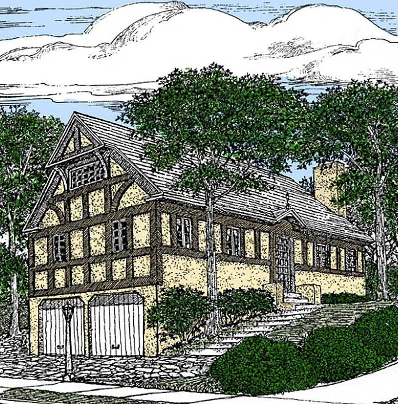 Plan 73360hs Exclusive Storybook Craftsman House Plan: Plan 11615GC: English Tudor Home Plan In 2019
