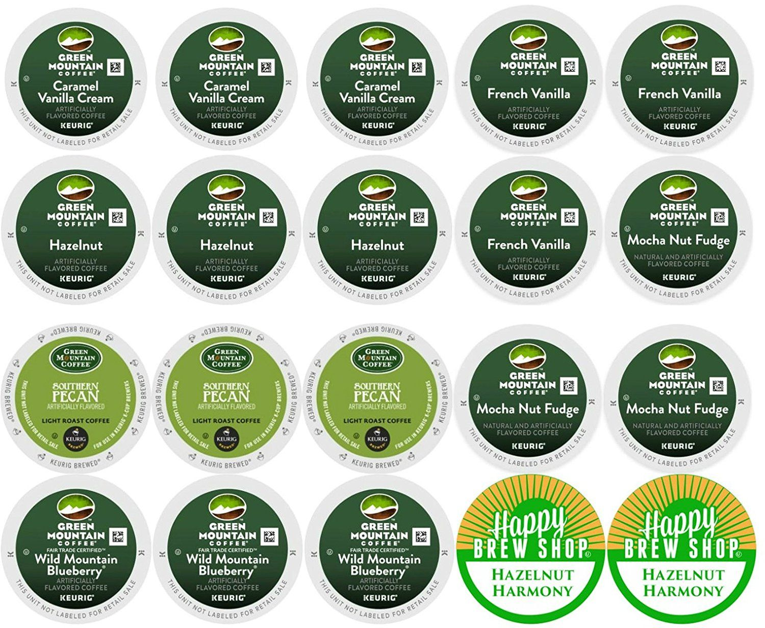 20count green mountain flavored coffee kcup variety