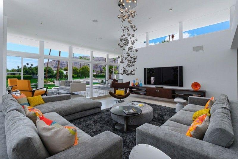 100 Ideen für Wohnzimmer - Frischekick mit Farben Living rooms - farbe fürs wohnzimmer
