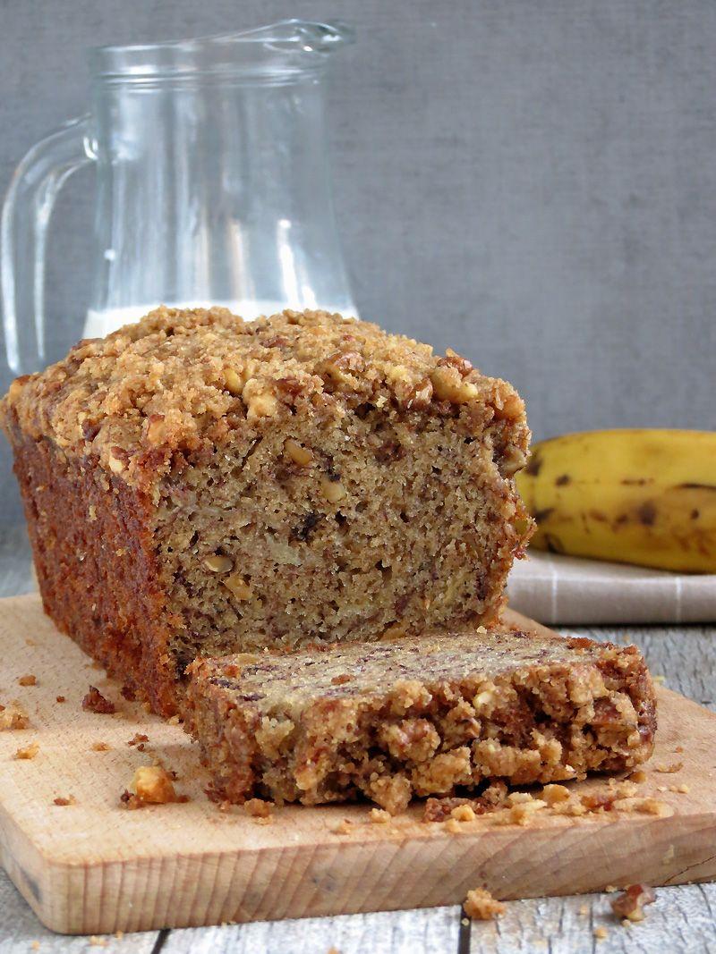 Moist Banana Bread W Crunchy Streusel Topping Recipe Moist Banana Bread Super Moist Banana Bread Banana Nut Bread