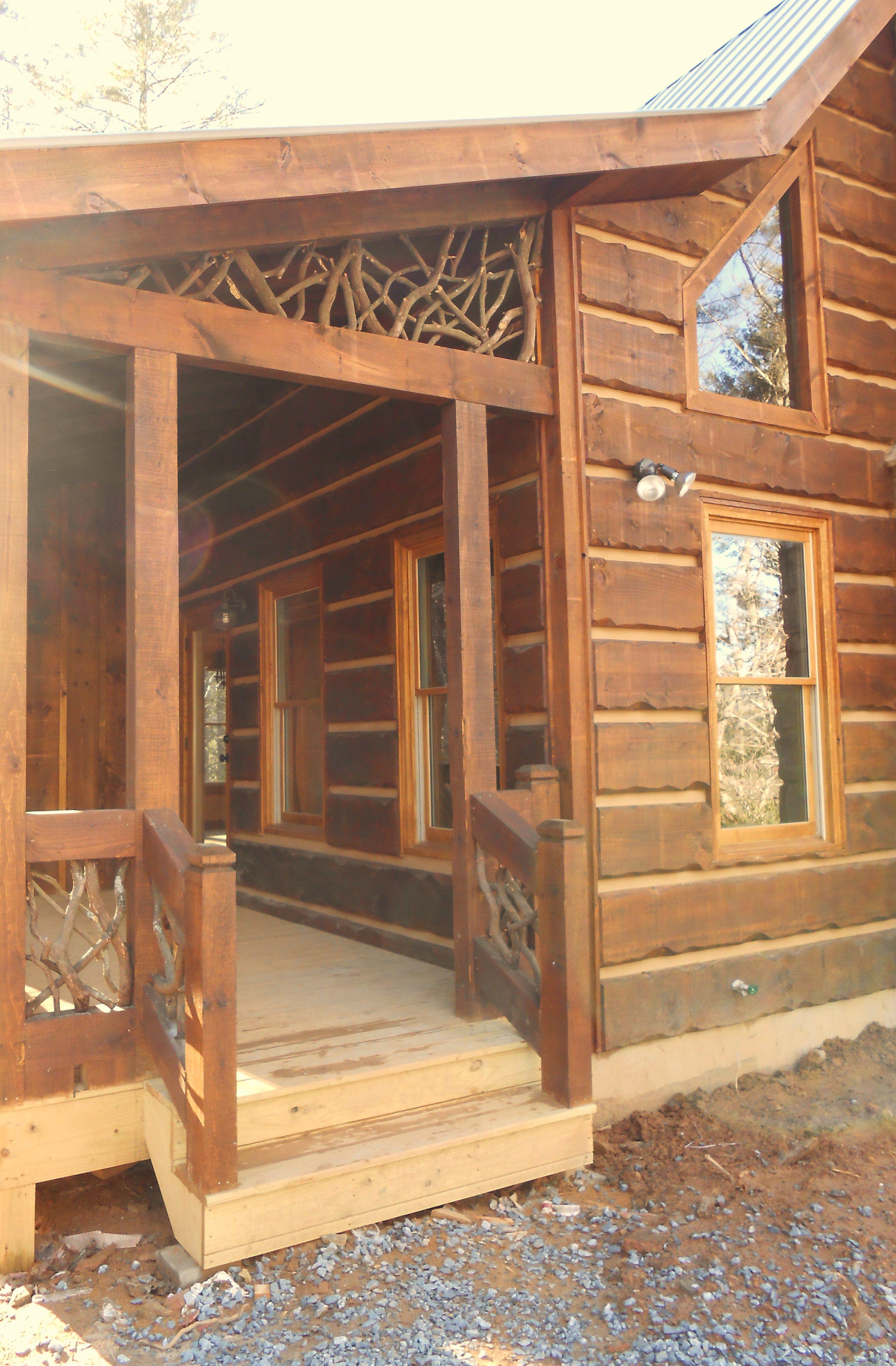 3x8 log siding hand hewn pine - Hand Scraped 2x12 Rough Sawn Siding With Perma Chink Fill