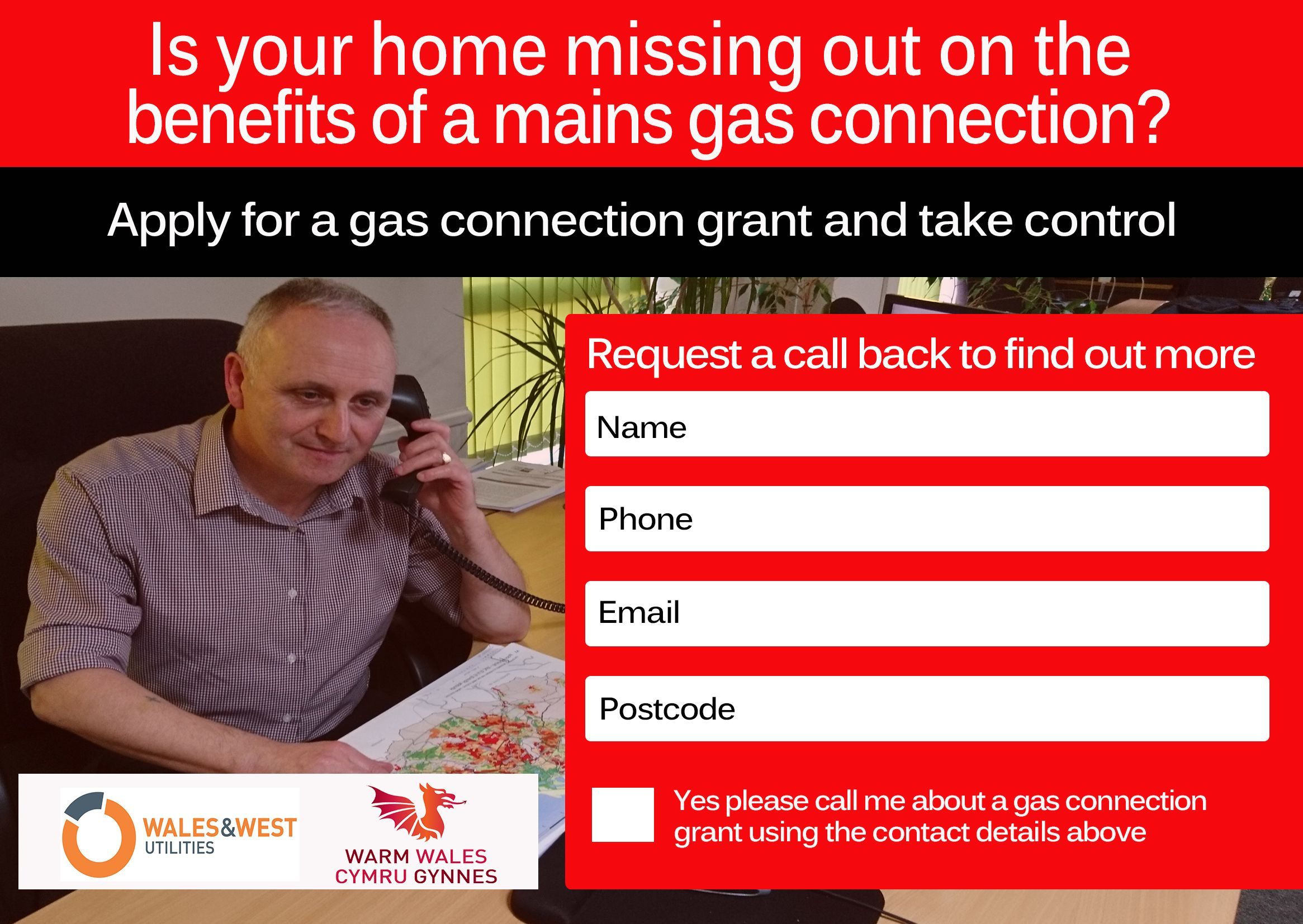 Gas Connection Grants for Wales and the West Country from