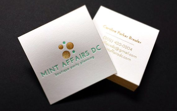 Letterpress Business Cards 100 2 Foils 1 By Finoprint On Etsy