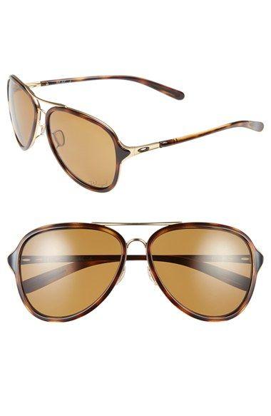 44f3296b35 Oakley  Kickback  58mm Polarized Aviator Sunglasses