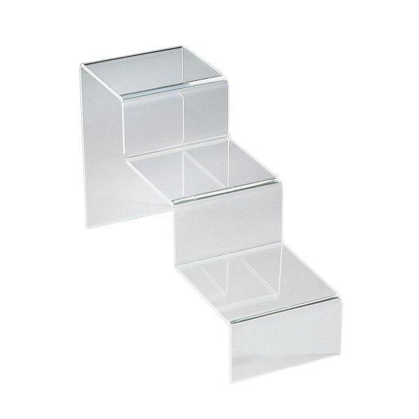 Préférence Support en escalier 3 marches plexi 10 x 30 x 15 cm | Présentoir  OO18