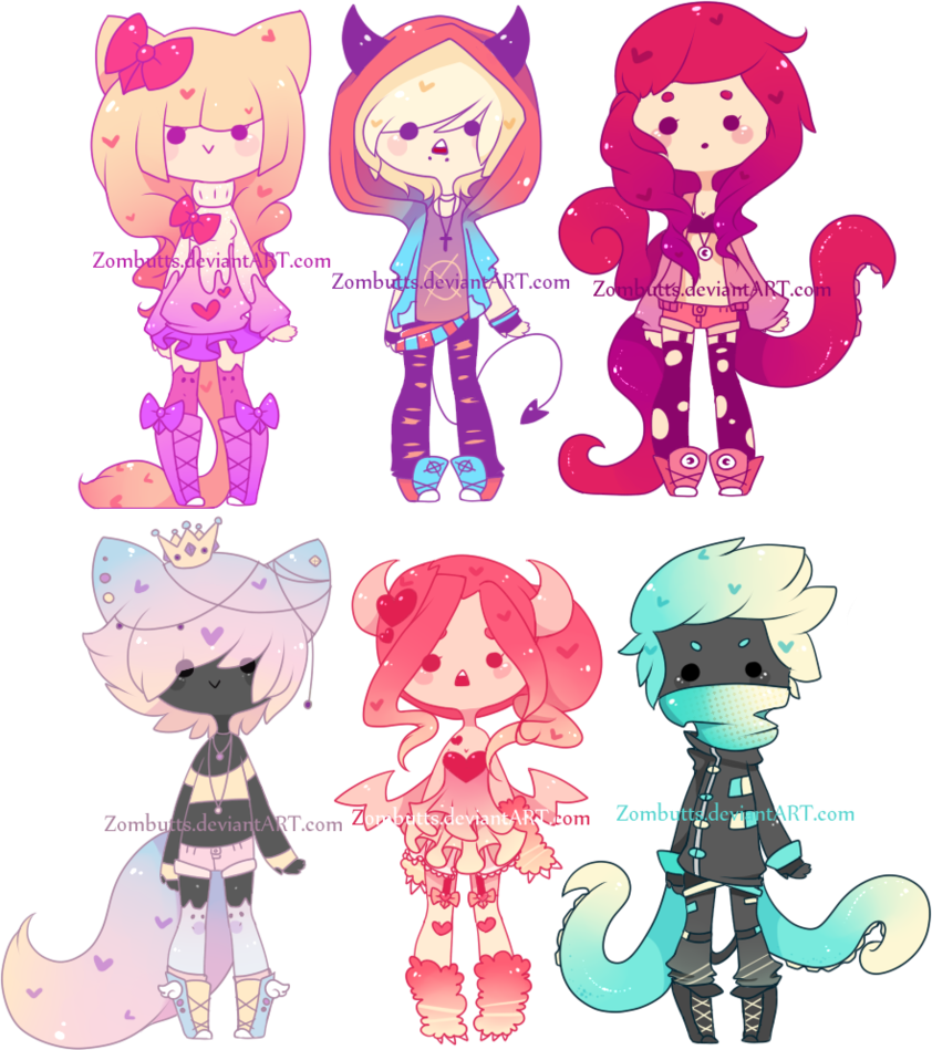 Adoptables Batch 9: CLOSED by Zombutts on DeviantArt ...
