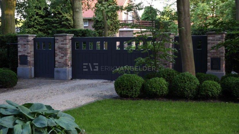Bijzondere poort hekwerk entree ontwerp poort luxe entree bij villa stijlvol exclusief maatwerk - Ontwerp tuin decoratie ...