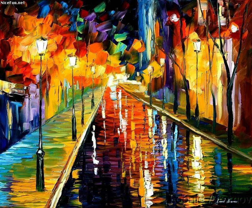 Famous Paintings | also by Leonid Afremov ( I just love his ...