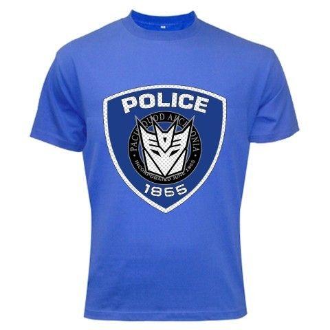 Transformers Movie Barricade Police Logo RED T-Shirt - XXL