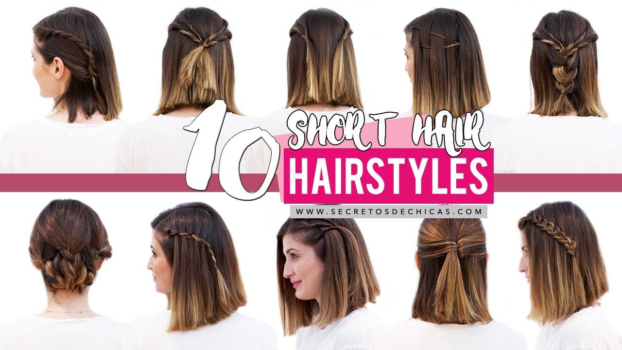 Easy Hairstyles For Short Hair Patry Jordan Hairstyles Hairstylesforshorthair Jordan Patry Sho Easy Hairstyles Hair Styles Cute Hairstyles For Short Hair