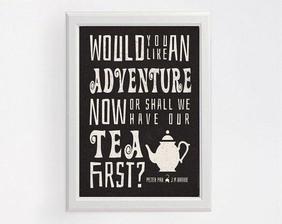 Peter Pan Big Adventure Poster Modern Typography Art Wall