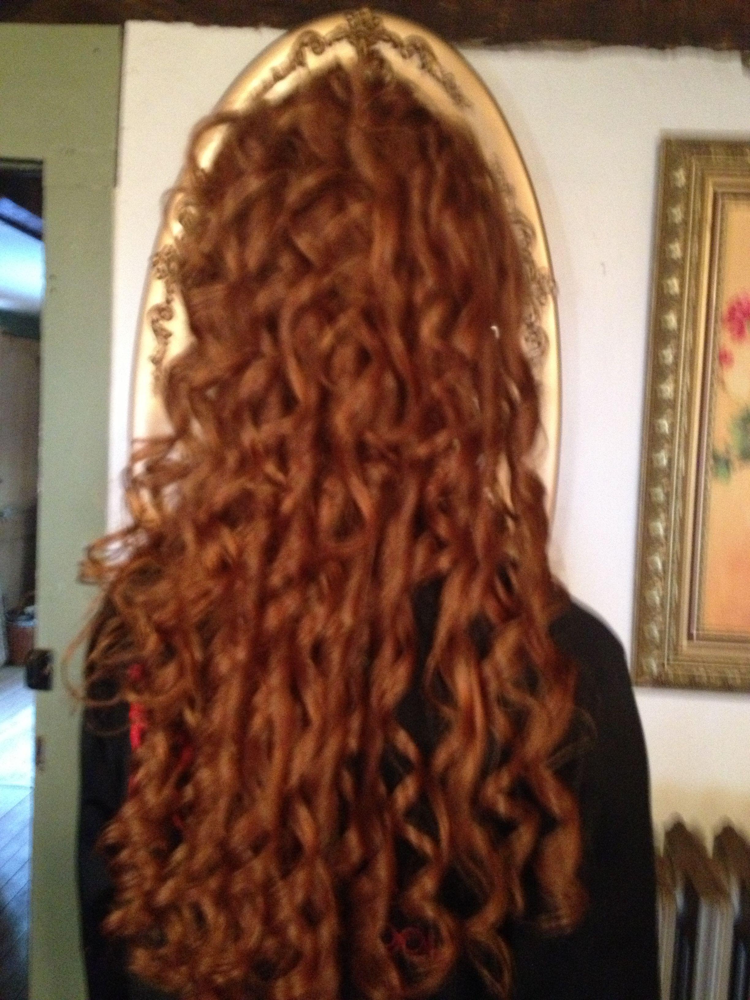 Gorgeous back rooted curls,sweet sixteen designed by Cynthia Marie
