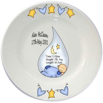 flair original personalised baby birth plates diy