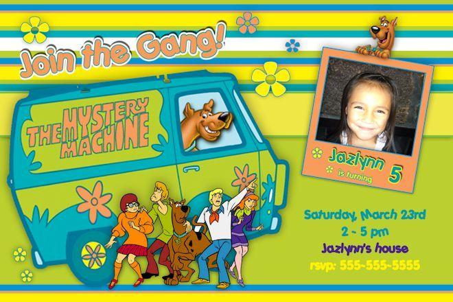 Scooby Doo Birthday Invitations Printable Free Birthday