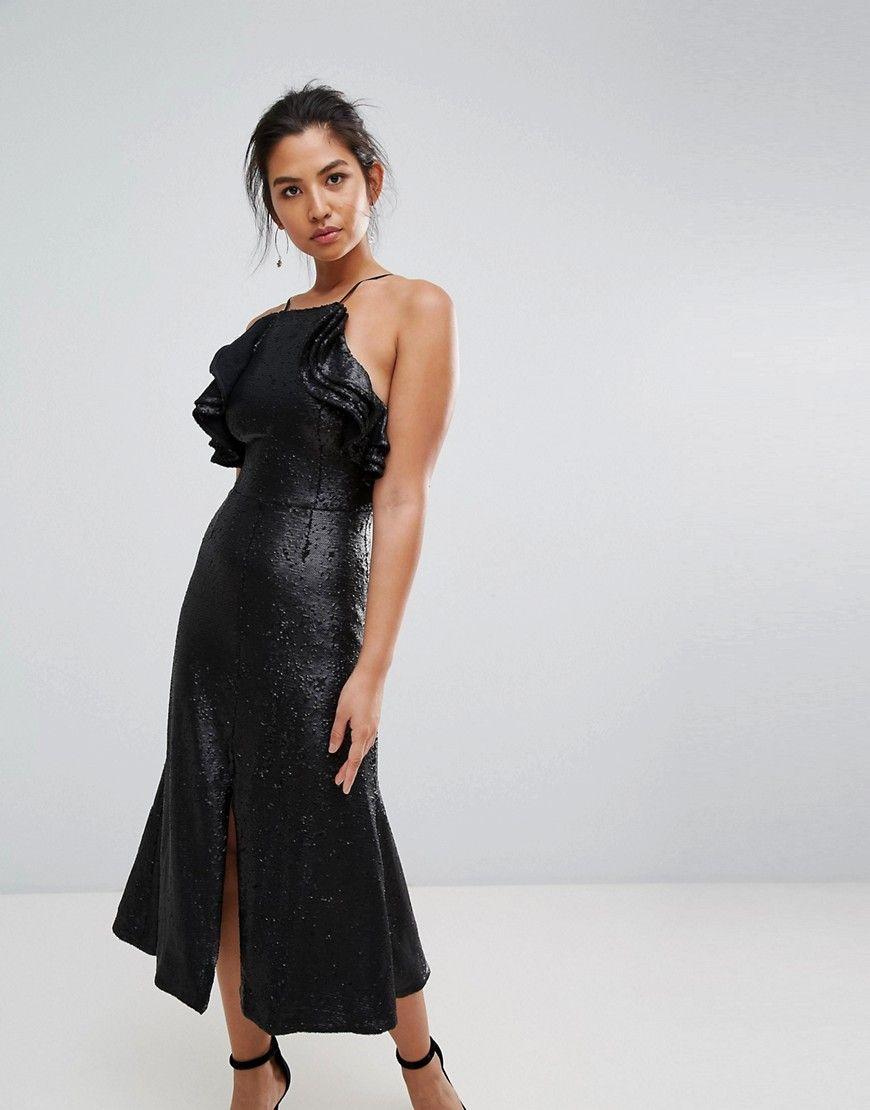 C/meo Collective Sequin Midi Dress - Black  ModeSens  Modestil