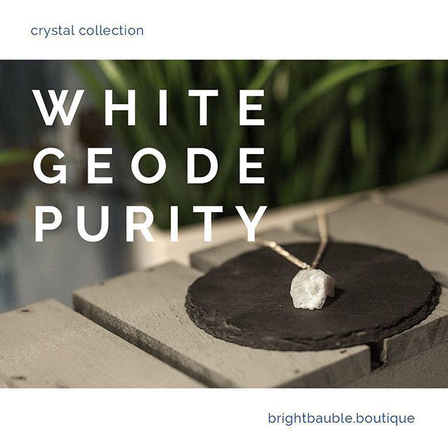 A Symbol Of Purity Wear This White Geode Necklace To Awaken