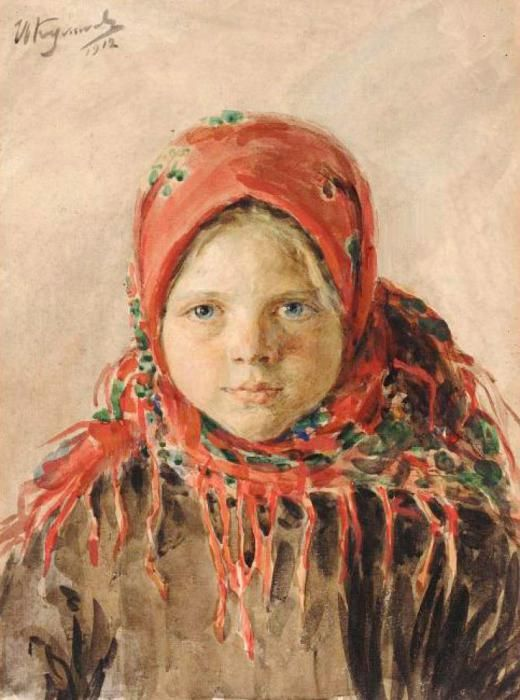 Иван Семенович Куликов. Русская девочка. 1919
