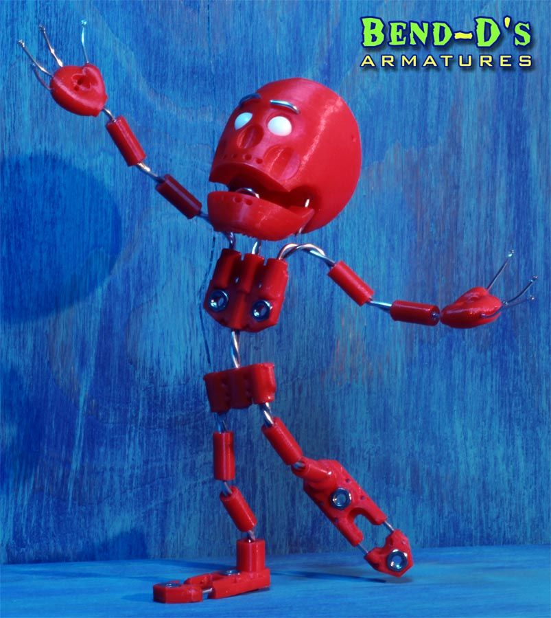 BendD's [Simple] Armature Kit 7.5 inches tall (Green