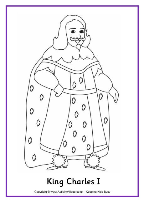 King Charles I Colouring Page 2 King Charles Coloring Pages