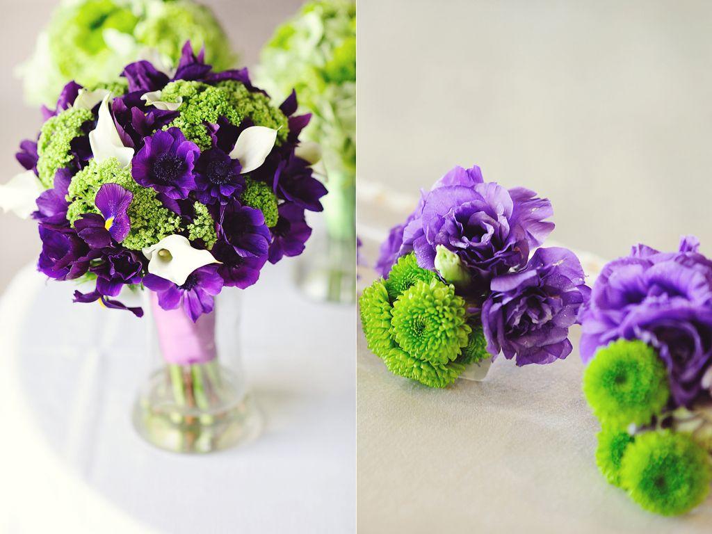 purple and green wedding flowers | Kreative Angle Photography