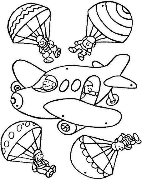 Ucak Mobili Boyama Sayfalari Desenler Tasitlar