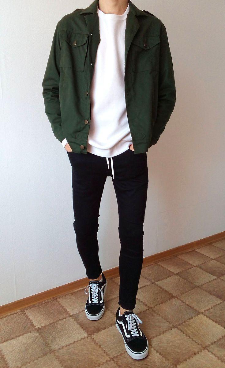 vans old skool black skinny jeans boys guys outfit
