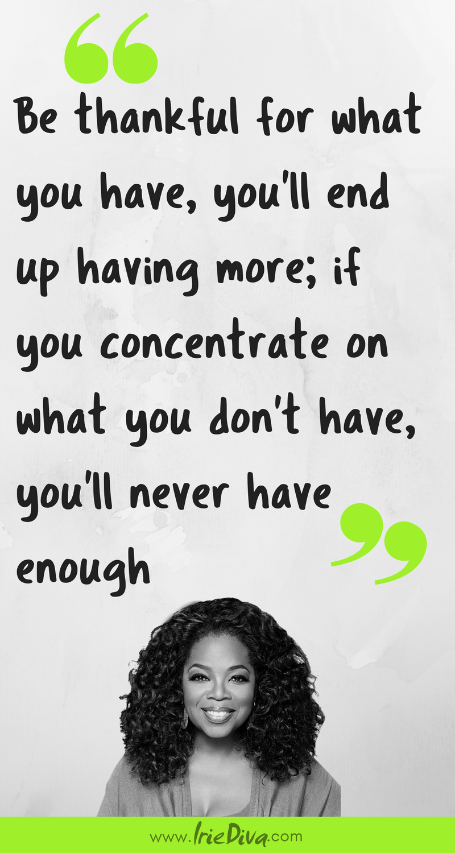 Oprah Winfrey quote on gratitude. 28 Days of Thanks