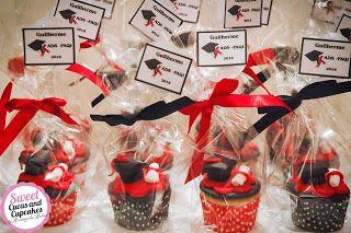 Sweet Cucas and Cupcakes by Rosângela Rolim: Mini Cupcakes Lembrança de Formatura