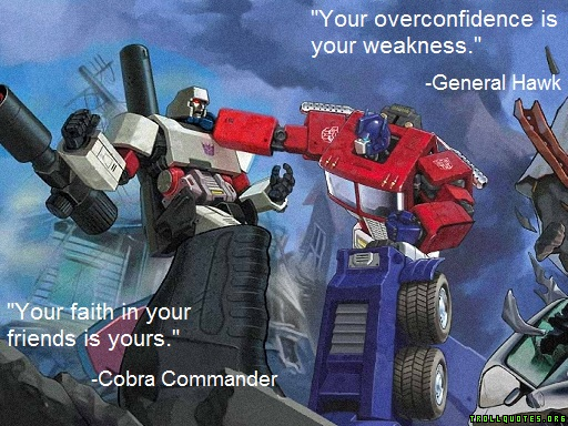 Optimus skywalker fights dark megatron More Troll Quotes at trollquotes.org