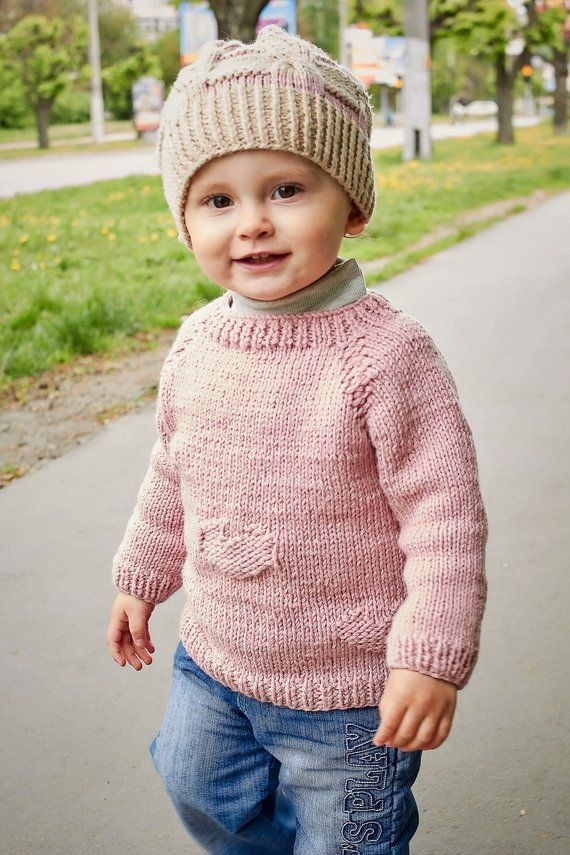 b7fdf8865 Pink baby sweater Girl s sweater Sweater for babies Baby wool ...